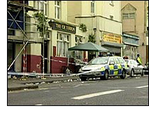 Criterion pub in St. Paul's cordoned off (BBC)
