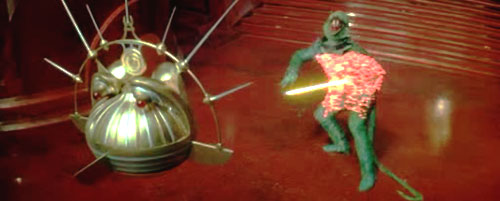 Zapped! Lizard Man rumbled in Flash Gordon