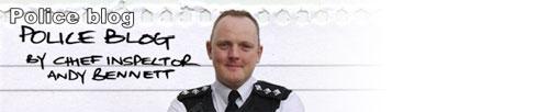 Andy Bennett's police blog header