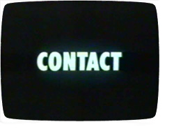 'Contact' title screen
