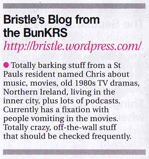 Bristle\'s Blog plugged in Venue