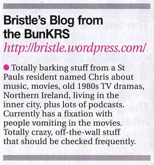 Bristle\'s Blog plugged in Venue