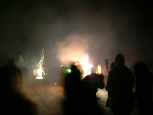 Silvester fireworks in Berlin