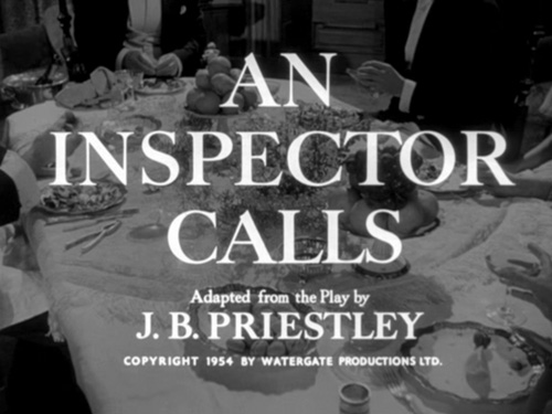 An Inspector Calls title screen