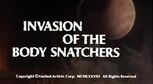 Invasion Of The Body Snatchers (1978) title screen