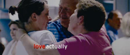 Love Actually title screen
