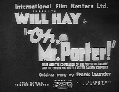 Oh, Mr Porter! title screen