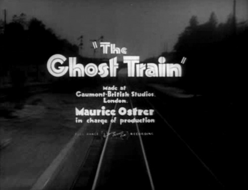 The Ghost Train title screen