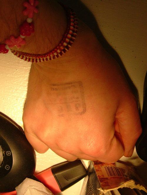 BrisTwestival hand stamp