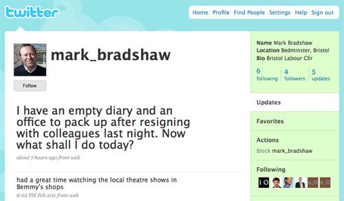 Mark Bradshaw's Twitter plea