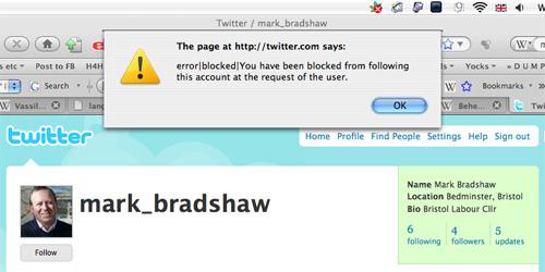 Mark Bradshaw hates Bristol bloggers!