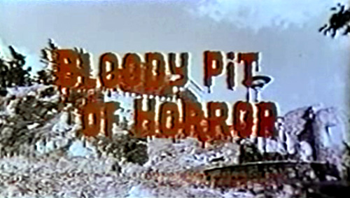 Bloody Pit Of Horror title screen