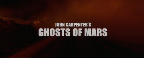 Ghosts Of Mars title screen