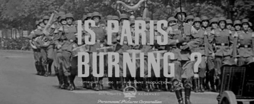 Is Paris Burning? title screen