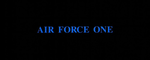 Air Force One title screen