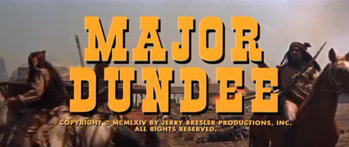 Major Dundee title screen