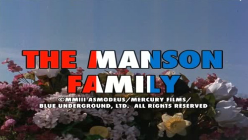 The Manson Family title screen