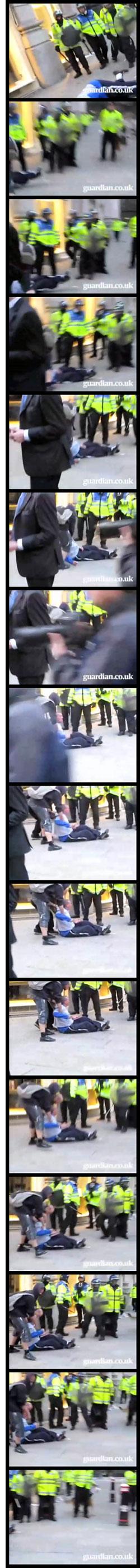 FIT cop kicking Ian Tomlinson?