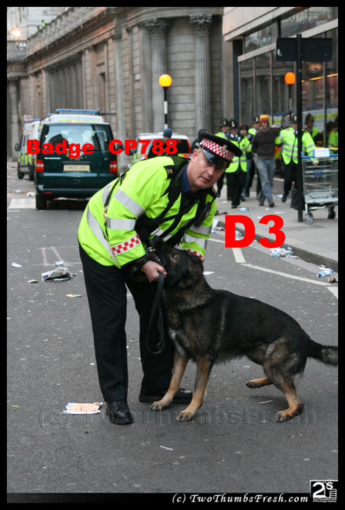 City of London dog handler CP788 - aka 'D3'
