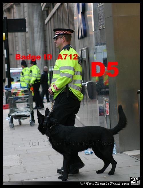 G20 Police Witnesses IDed: City of London Police dog handler A712 aka 'D5'