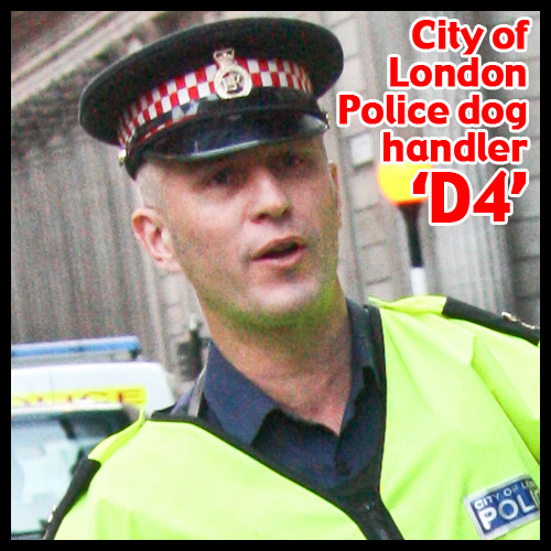 G20 Police Witnesses IDed: City of London Police dog handler 'D4'