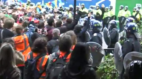 Police attack peaceful Climate Camp, 1/4/9