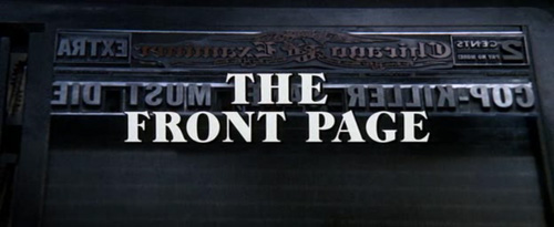 The Front Page title screen