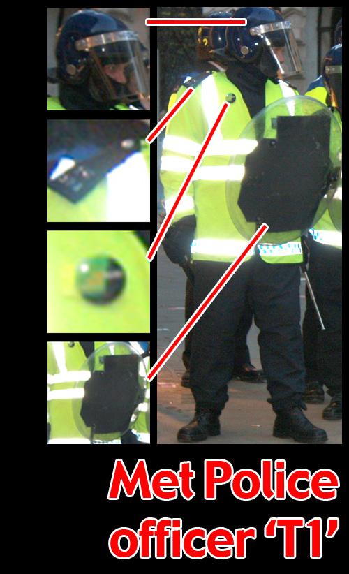 G20 Police Witnesses IDed: Metropolitan Police officer 'T1'