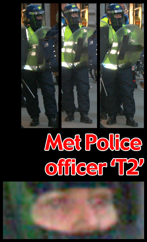 G20 Police Witnesses IDed: Metropolitan Police officer 'T2'