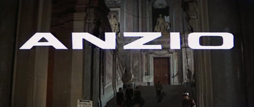Anzio title screen