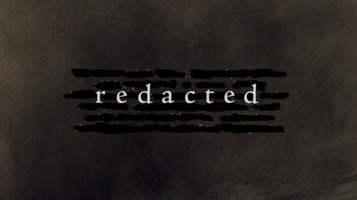 Redacted title screen