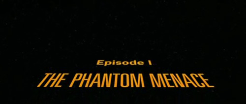 Star Wars Episode I: The Phantom Menace title screen