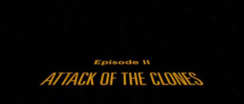 Star Wars Episode II: Attack Of The Clones title screen
