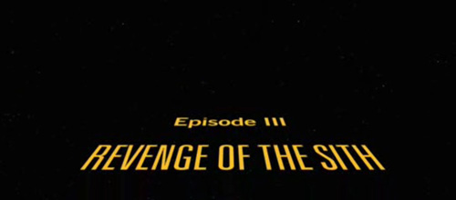 Star Wars Episode III: Revenge Of The Sith title screen