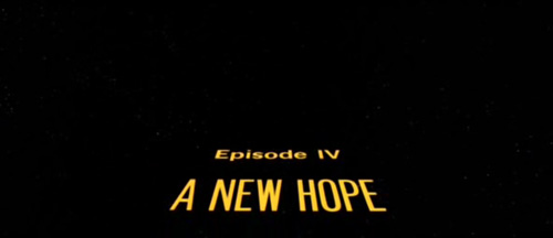 Star Wars title screen