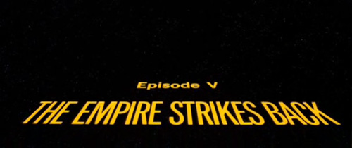 The Empire Strikes Back title screen