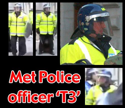 G20 Police Witnesses IDed: Metropolitan Police officer 'T3'
