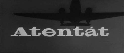 Atentát title screen