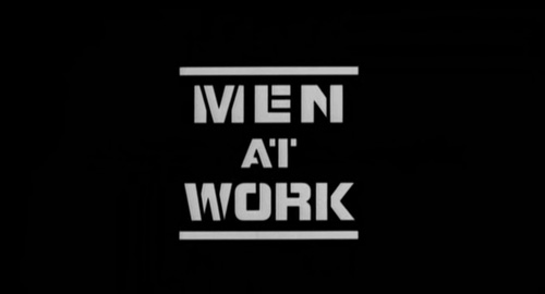 Men At Work title screen