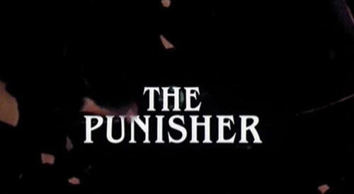 The Punisher (1989) title screen
