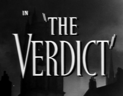 The Verdict (1946) title screen