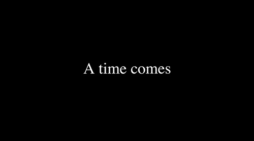 A Time Comes title screen