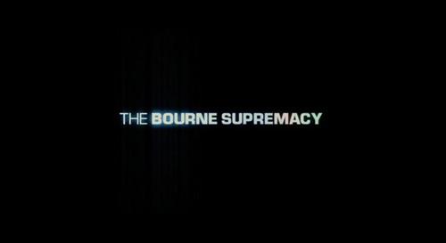 The Bourne Supremacy title screen