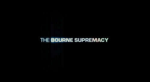 The Bourne Supremacy title screen