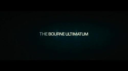 The Bourne Ultimatum title screen