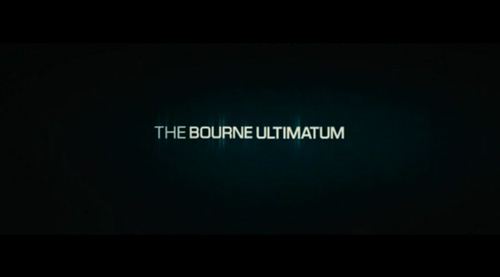 The Bourne Ultimatum title screen