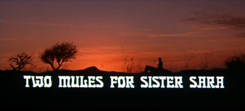 Two Mules For Sister Sara title screen
