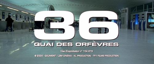 36 Quai Des Orfèvres title screen