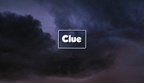 Clue title screen