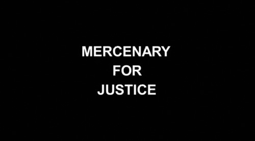 Mercenary For Justice title screen